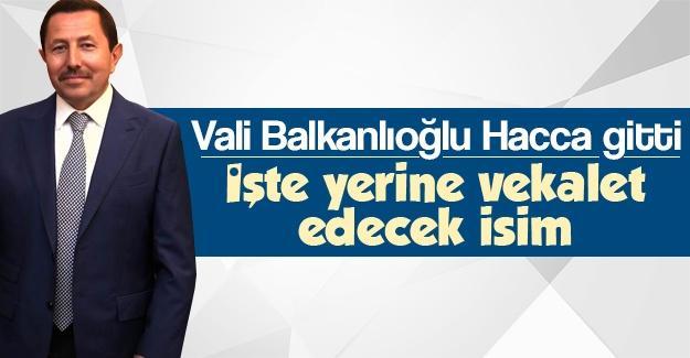 Vali Balkanlıoğlu Hacca gitti
