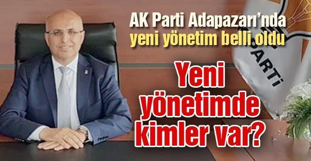AK Parti Adapazarı'nda yeni yönetim belli oldu