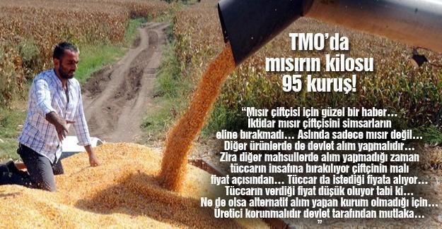 TMO'da mısırın kilosu 95 kuruş!