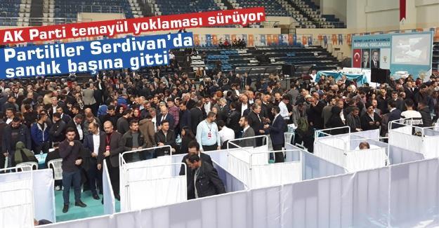 Sakarya'da AK Parti temayül yoklaması sürüyor