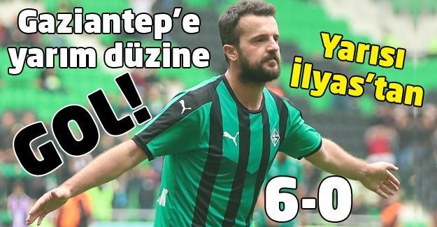 Sakaryaspor'dan yarım düzine gol!
