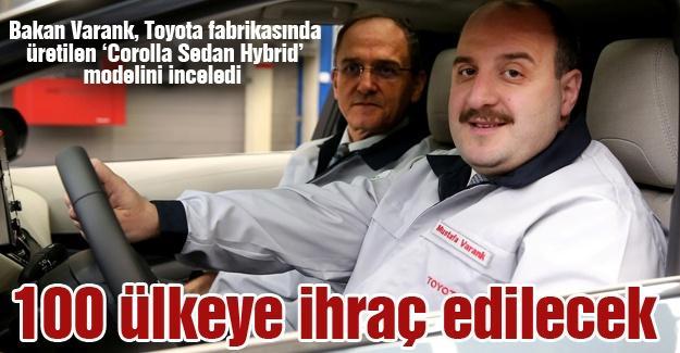 Bakan Varank, Toyota fabrikasında incelemelerde bulundu