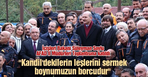 İçişleri Bakanı Süleyman Soylu AFAD İl Müdürleri Toplantısına katıldı