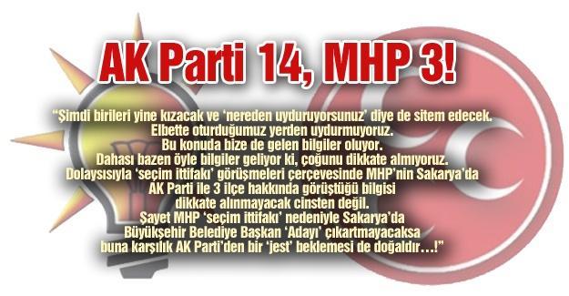 AK Parti 14, MHP 3!…