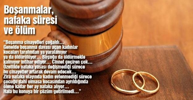 Boşanmalar, nafaka süresi ve ölüm