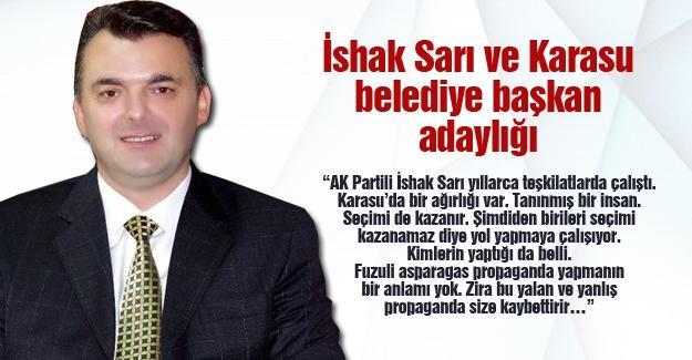 İshak Sarı ve Karasu belediye başkan adaylığı
