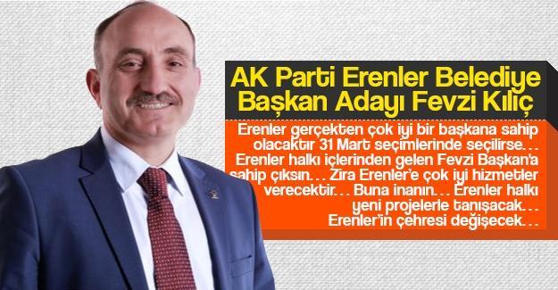 AK Parti Erenler Belediye Başkan Adayı Fevzi Kılıç