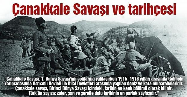 Çanakkale Savaşı ve tarihçesi