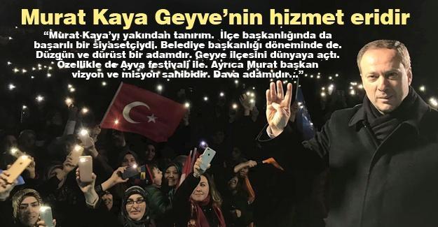 Murat Kaya Geyve'nin hizmet eridir