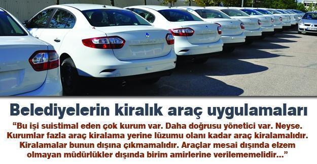 Belediyelerin kiralık araç uygulamaları