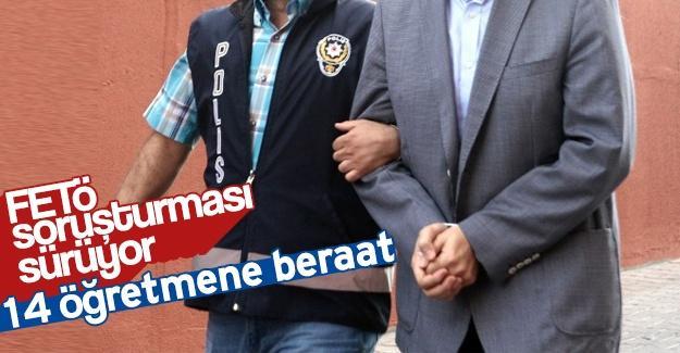 FETÖ davasında 14 öğretmene beraat
