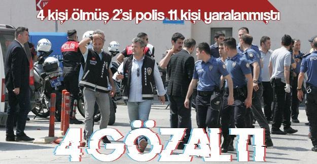 4 kişi ölmüş, 2'si polis 11 kişi yaralanmıştı