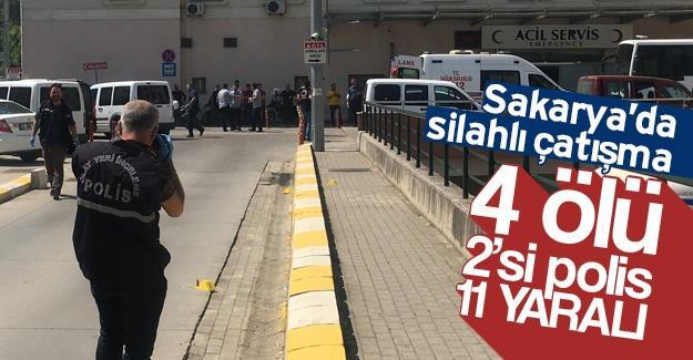 Silahlı çatışmanın bilançosu: 4 ölü, 2'si polis 11 yaralı