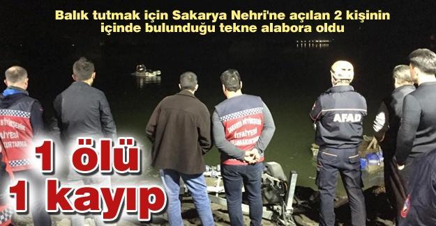 Sakarya Nehrinde tekne alabora oldu! 1 ölü, 1 kayıp