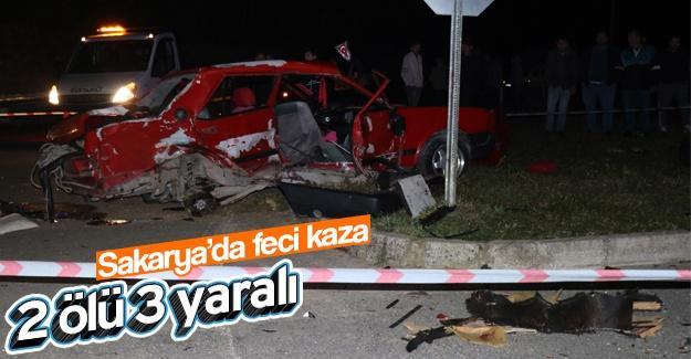 Sakarya'da feci kaza!