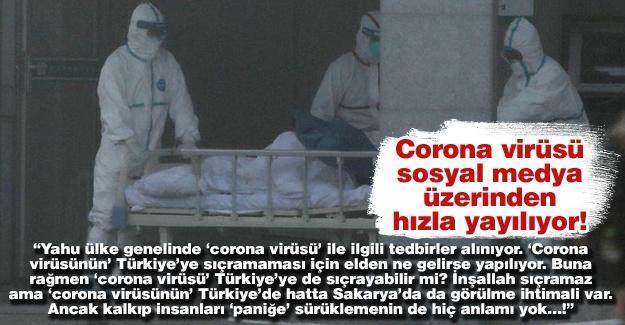 Corona virüsü sosyal medya üzerinden hızla yayılıyor!…