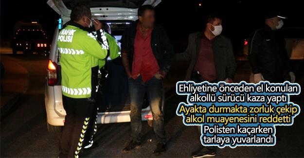 Ehliyetine el konulan sürücü yine alkollü yakalandı