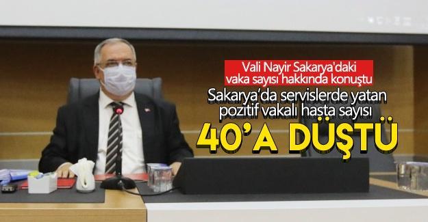 Vali Nayir Sakarya'daki vaka sayısı hakkında konuştu