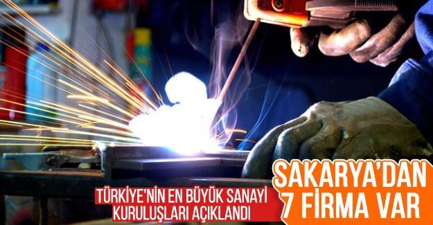 Türkiye'nin en büyük sanayi kuruluşları açıklandı! Sakarya'dan 7 firma var
