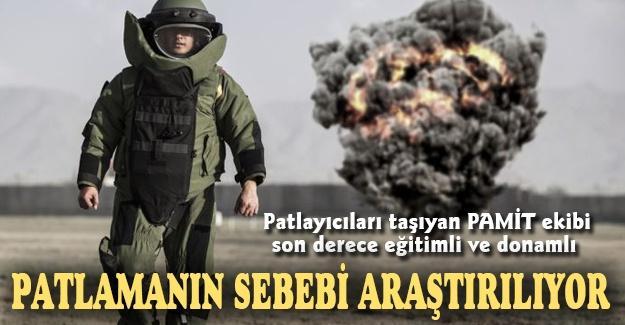 Patlayıcıları taşıyan PAMİT ekibi son derece eğitimli ve donamlı