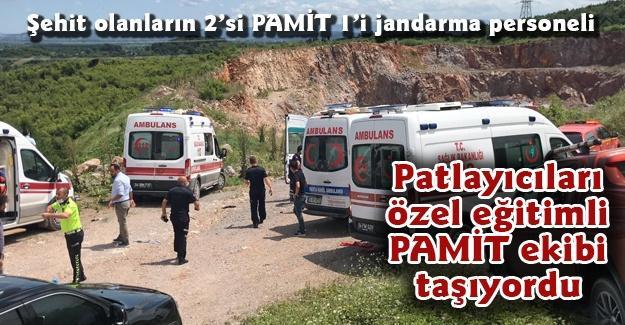 Patlayıcıları özel eğitimli PAMİT ekibi taşıyordu