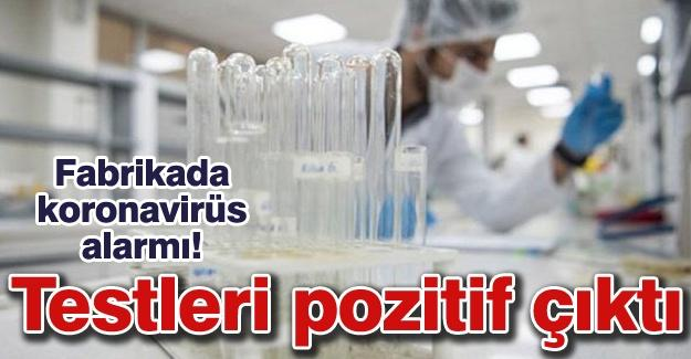 Fabrikada koronavirüs alarmı! Testleri pozitif çıktı