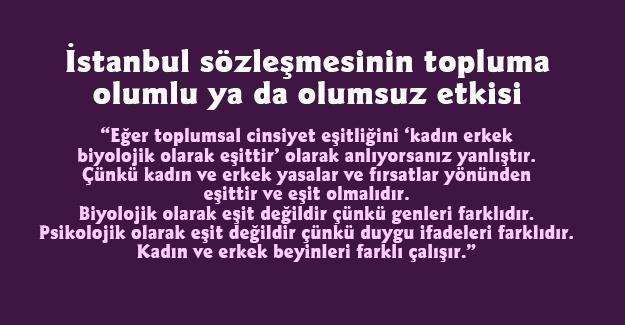 İstanbul sözleşmesinin topluma olumlu ya da olumsuz etkisi