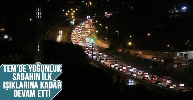 TEM'de bayram trafiği sona erdi