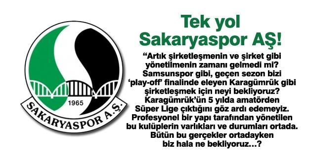 Tek yol Sakaryaspor AŞ!…