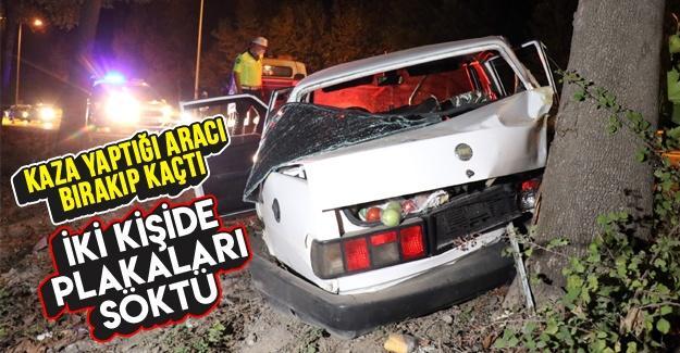 Kaza yaptığı aracı bırakarak kayıplara karıştı