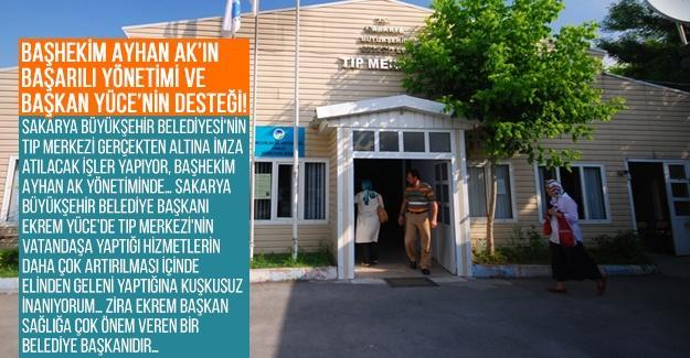 Başhekim Ayhan Ak'ın başarılı yönetimi ve Başkan Yüce'nin desteği!