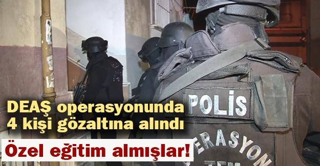 DEAŞ operasyonunda 4 kişi gözaltına alındı