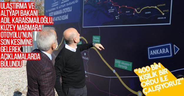 Bakan Karaismailoğlu Sakarya'da incelemelerde bulundu
