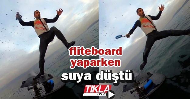 Kenan Sofuoğlu fliteboard yaparken suya düştü
