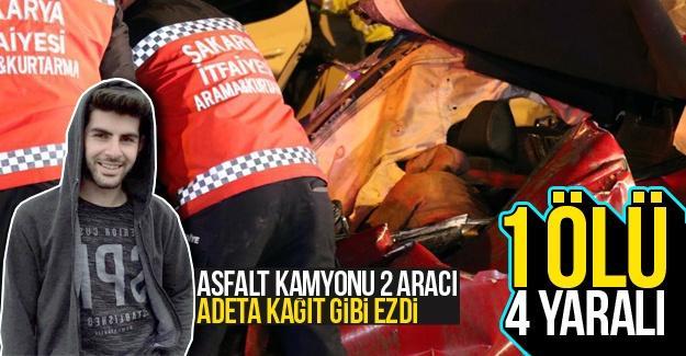 Feci kazada 1 kişi öldü 4 kişi yaralandı!
