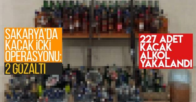 Sakarya'da kaçak içki operasyonu: 2 gözaltı