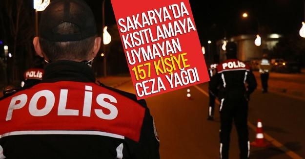 Kısıtlamaya uymayan 157 kişiye ceza yağdı