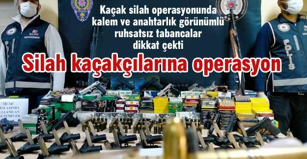 Silah kaçakçılarına operasyon! 15 gözaltı