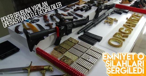 Sedat Peker operasyonunda ele geçirilen silahlar sergilendi