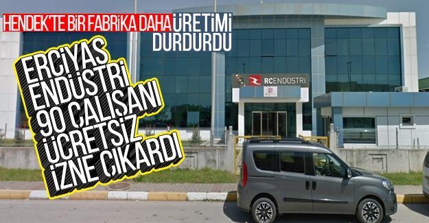 Erciyas Endüstri'den 90 çalışanına ücretsiz izin