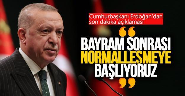 Cumhurbaşkanı Erdoğan'dan son dakika açıklaması