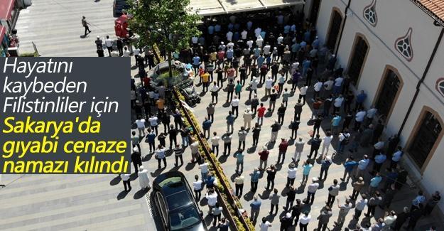 Hayatını kaybeden Filistinliler için gıyabi cenaze namazı kılındı