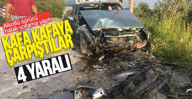 Alkollü sürücünün hatalı sollaması kazaya neden oldu