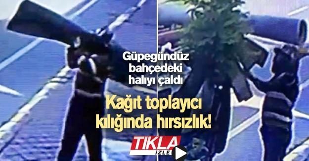 Kağıt toplayıcı kılığında hırsızlık!