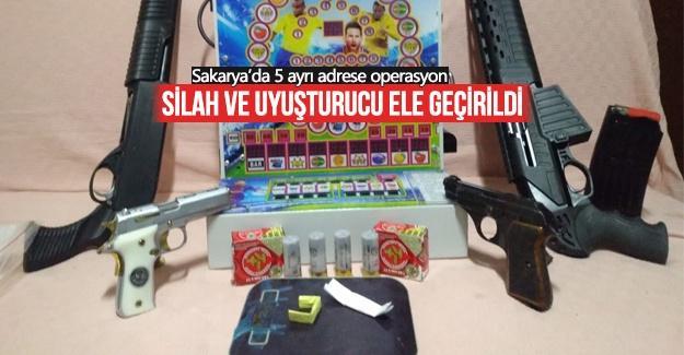 Sakarya'da 5 ayrı adrese operasyon