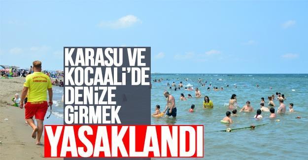 Olumsuz hava koşulları nedeniyle denize girmek yasaklandı