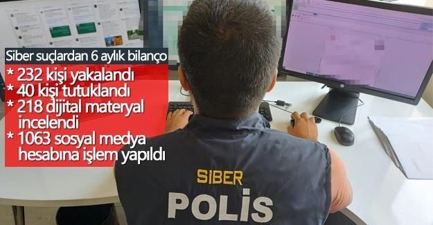 Siber suçlardan 6 aylık bilanço