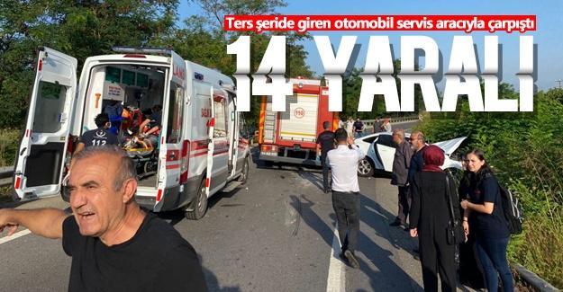 TEM'de feci kaza: 14 yaralı!