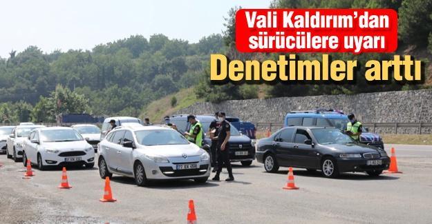 Vali Kaldırım'dan sürücülere uyarı