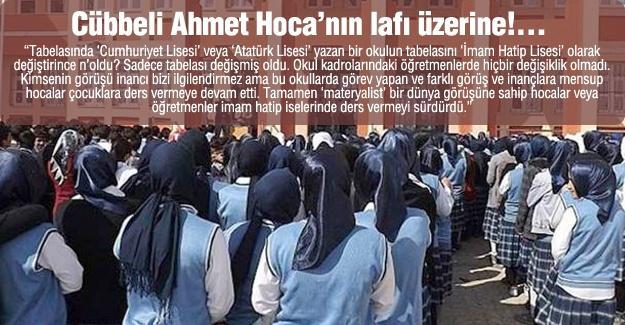 Cübbeli Ahmet Hoca'nın lafı üzerine!…